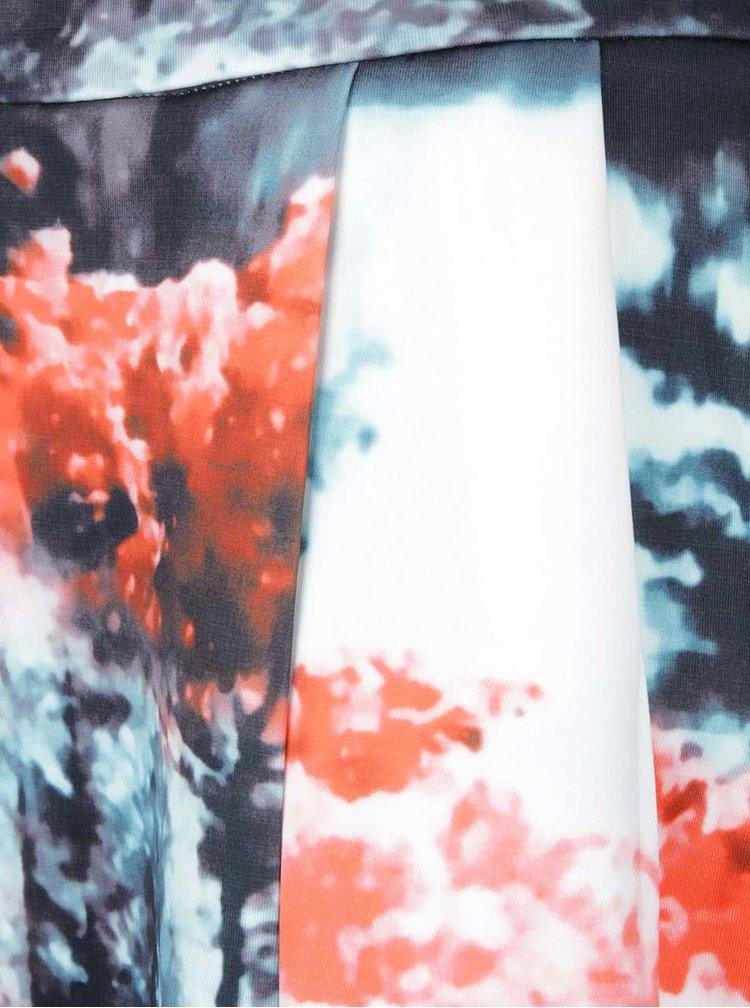 Červeno-šedá skládaná sukně s potiskem Smashed Lemon