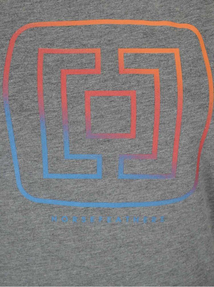 Šedé dámské tričko s logem Horsefeathers Aurora