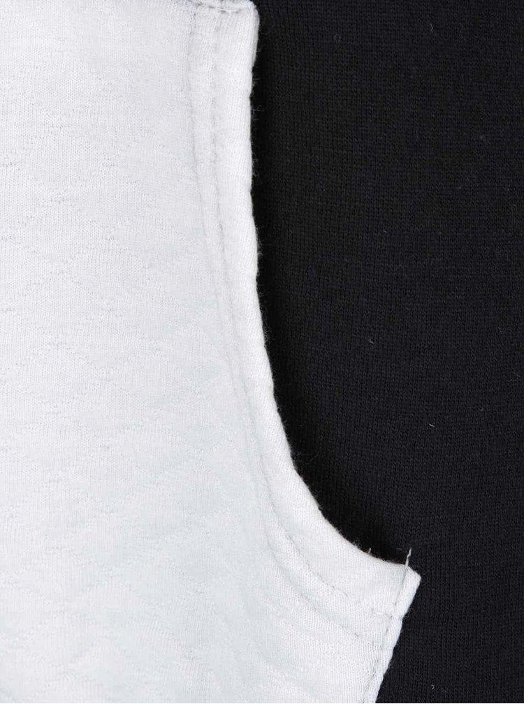 Krémovo-černá mikina s aplikací Madonna Lee