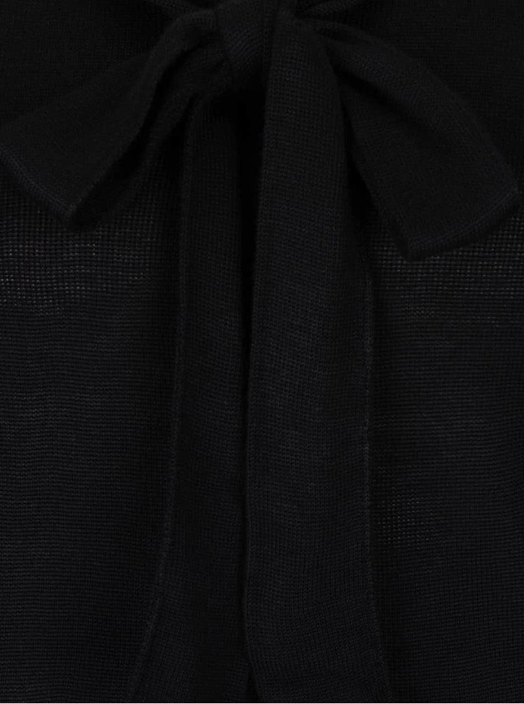 Černý lehký svetr s mašlí VERO MODA Rubi