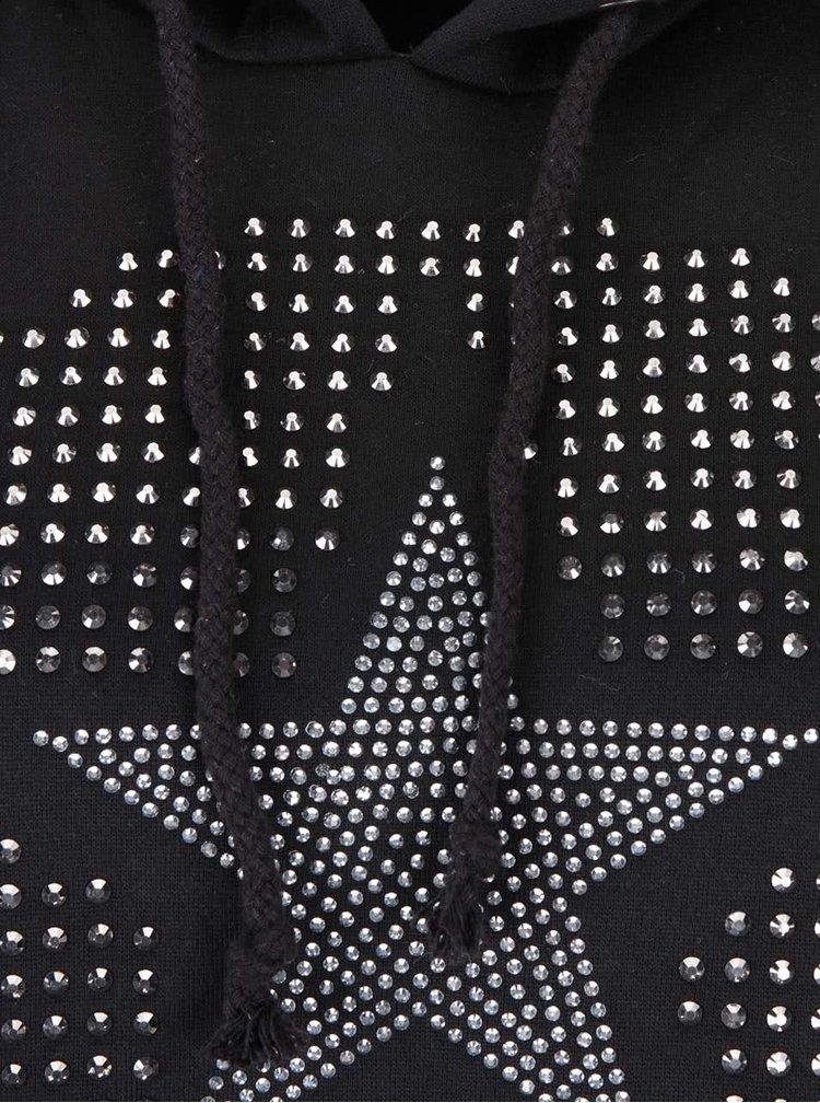 Šedo-černá mikina s aplikací Madonna Lee
