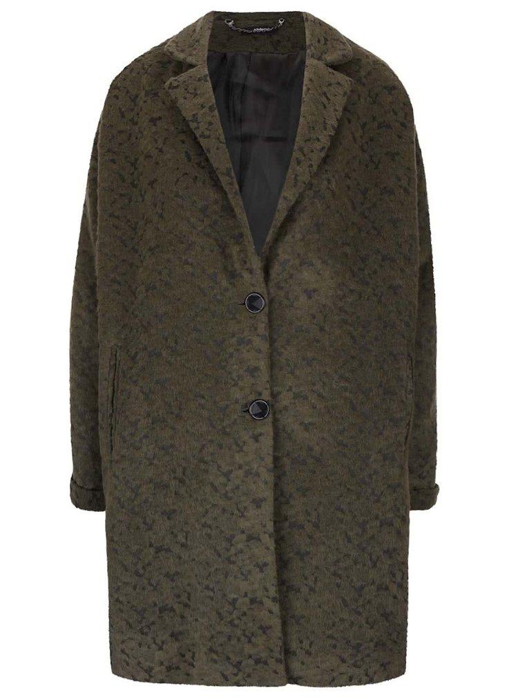 Zelený kabát s drobným vzorem Alchymi Demalia