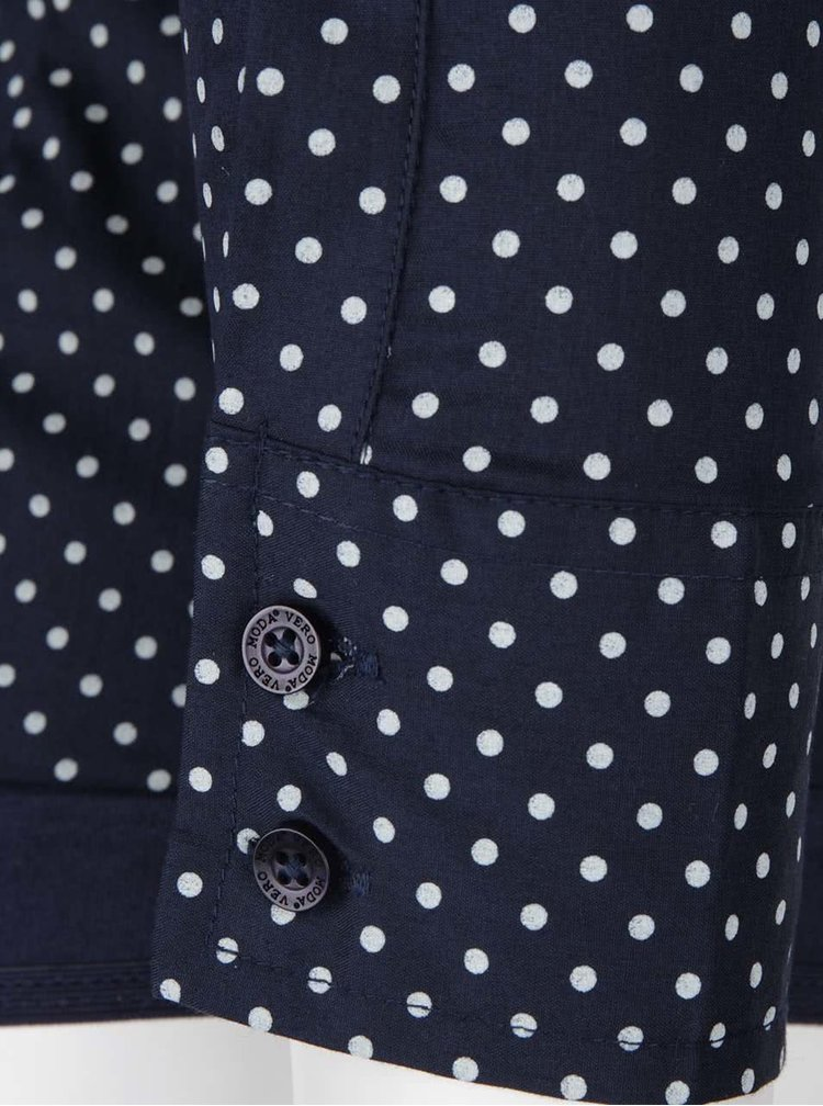 Tmavomodrá vzorovaná body košeľa VERO MODA Lady