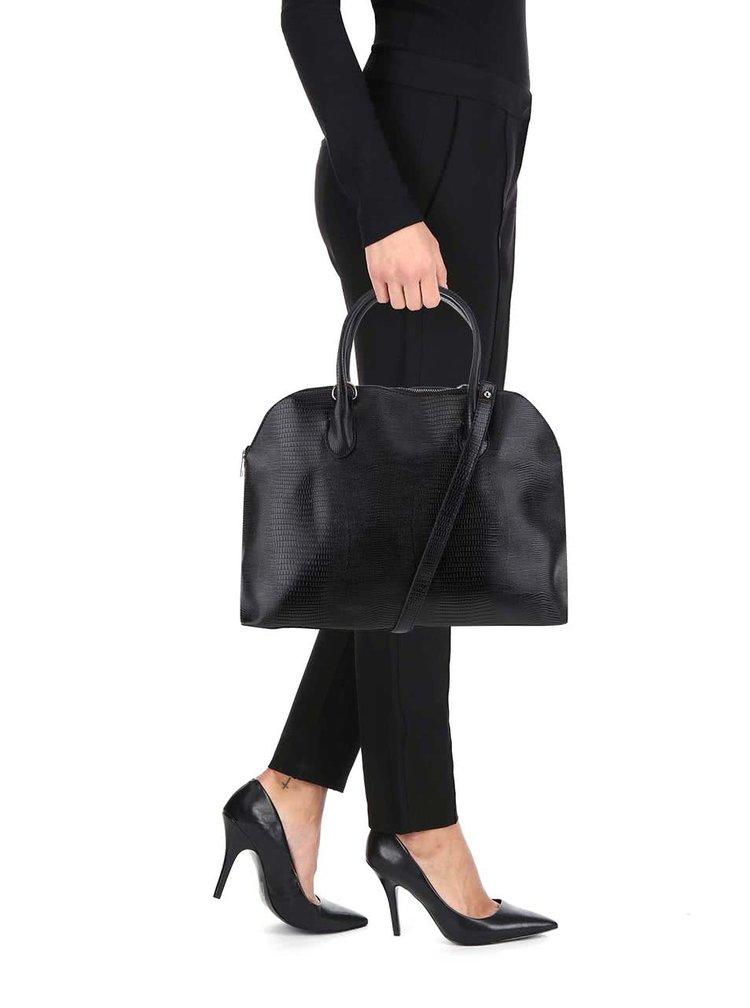 Čierna kabelka so vzorom hadej kože VERO MODA Snakie