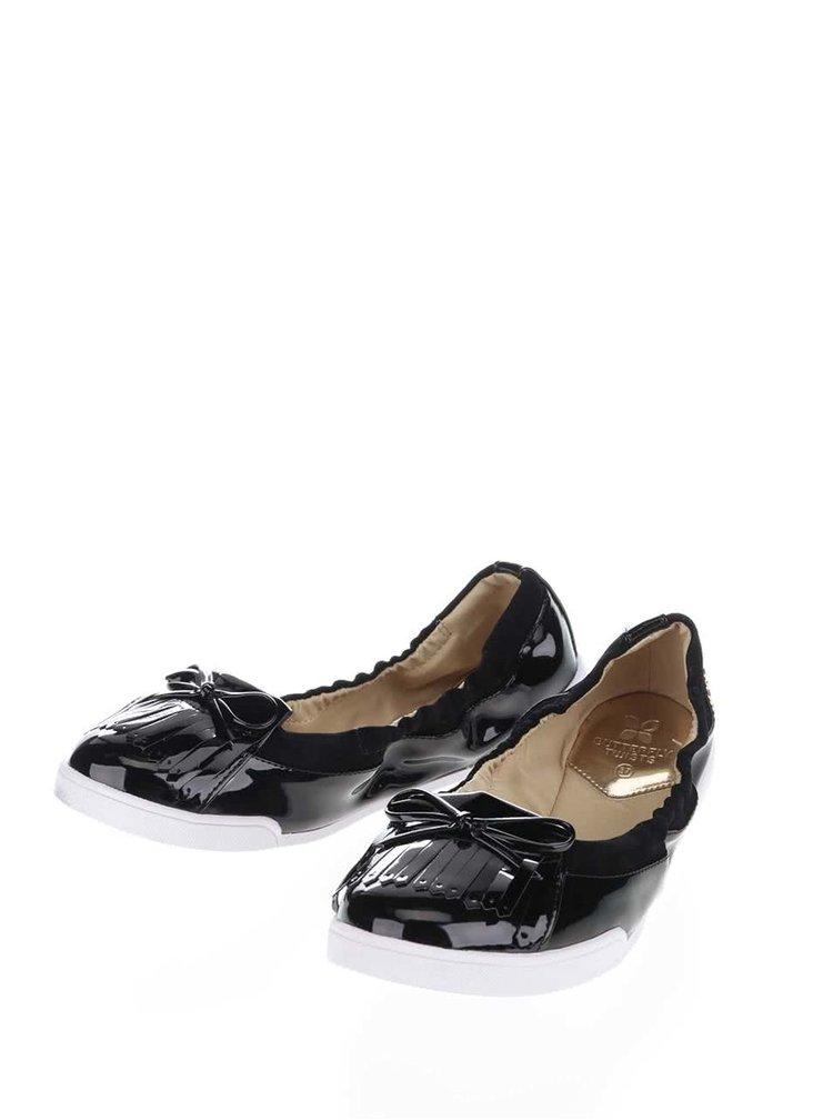 Černé lesklé baleríny do kabelky Butterfly Twists Robyn