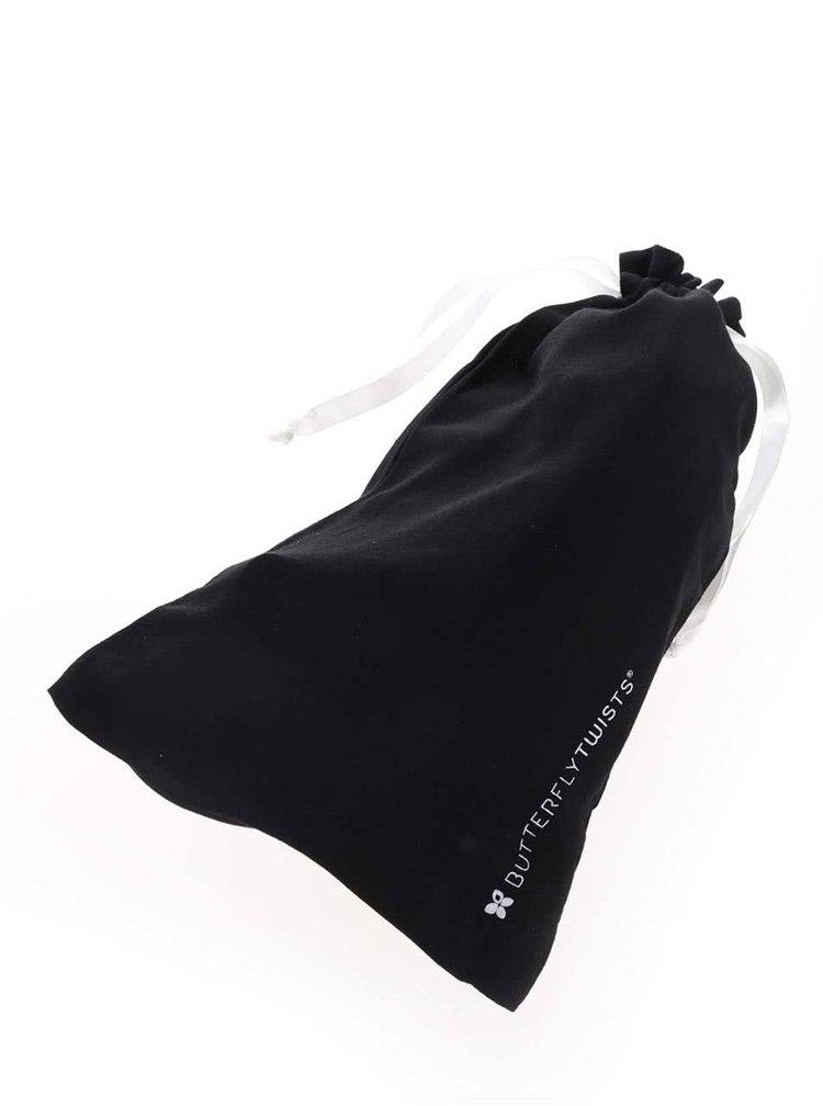 Čierne lesklé baleríny do kabelky Butterfly Twists Robyn