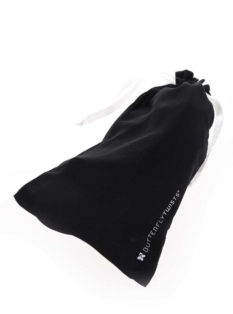 Čierne baleríny s mašľou do kabelky Butterfly Twists Chloe
