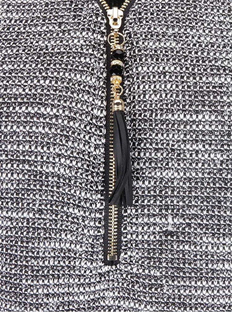 Černobílé tričko s dlouhým rukávem Madonna Melodie