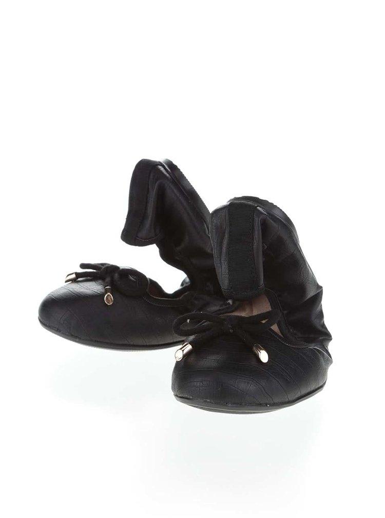 Černé vzorované baleríny do kabelky Butterfly Twists Francesca
