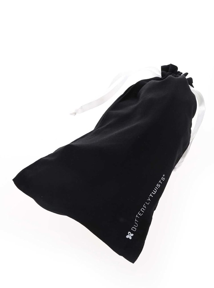 Čierne vzorované baleríny do kabelky Butterfly Twists Francesca