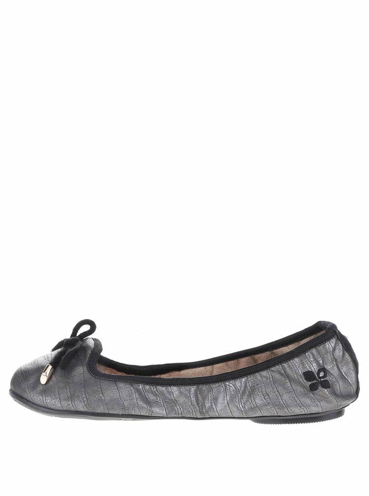 Sivé vzorované baleríny do kabelky Butterfly Twists Francesca