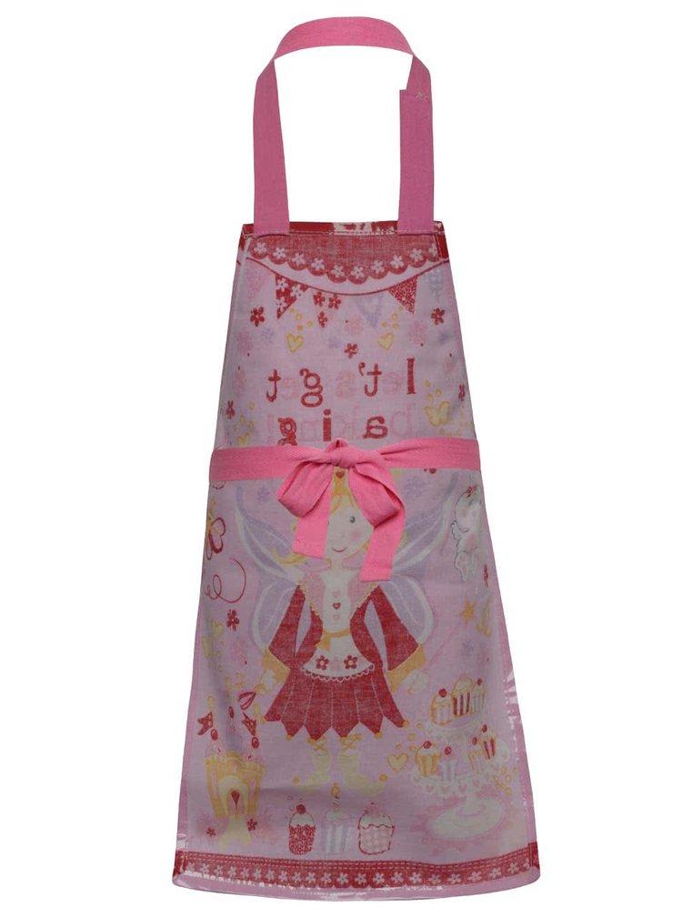 Růžová holčičí zástěra na vaření s princeznovským motivem Cooksmart