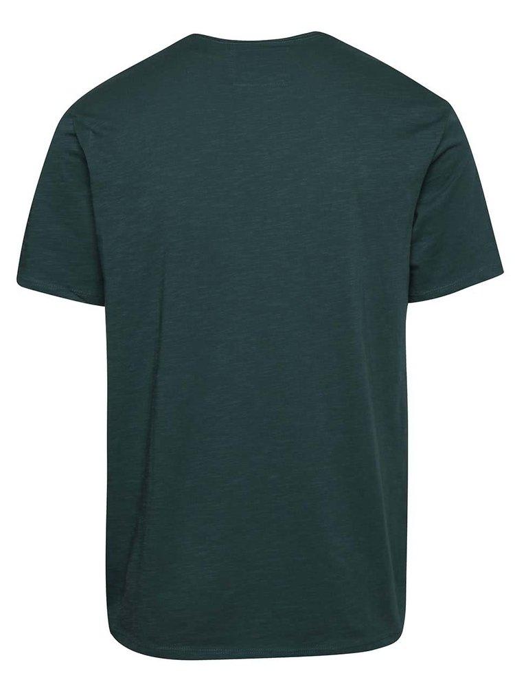 Tmavě zelené pánské triko s kapsou O'Neill Jack's base