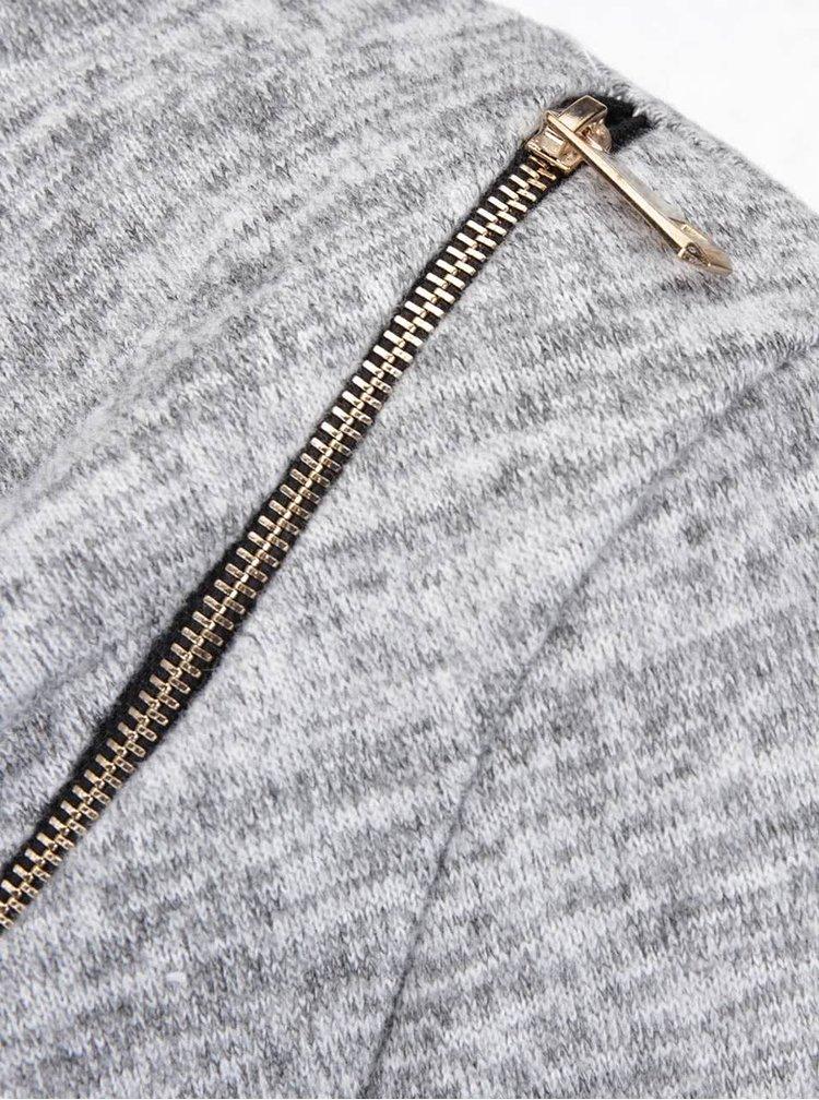 Šedá žíhaná tunika s páskem Madonna Heike