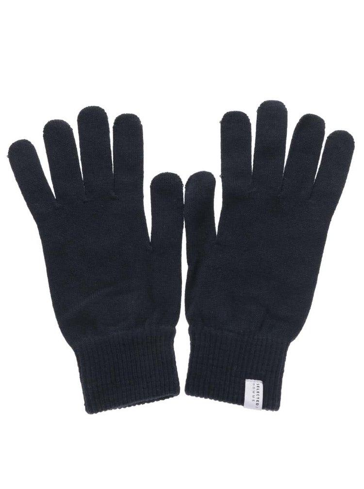 Tmavě modré rukavice Selected Homme Hleth