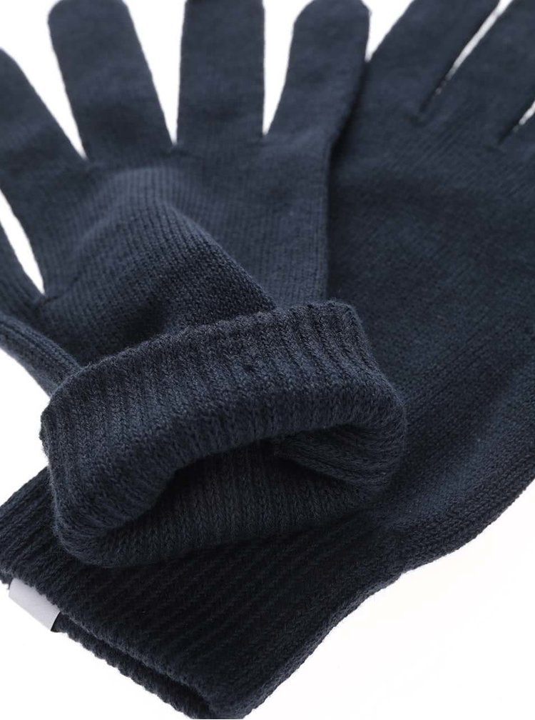 Tmavomodré rukavice Selected Homme Hleth