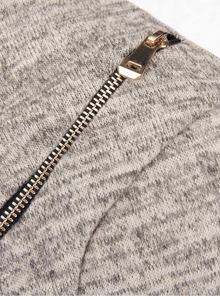 Béžová žíhaná tunika s páskem Madonna Heike