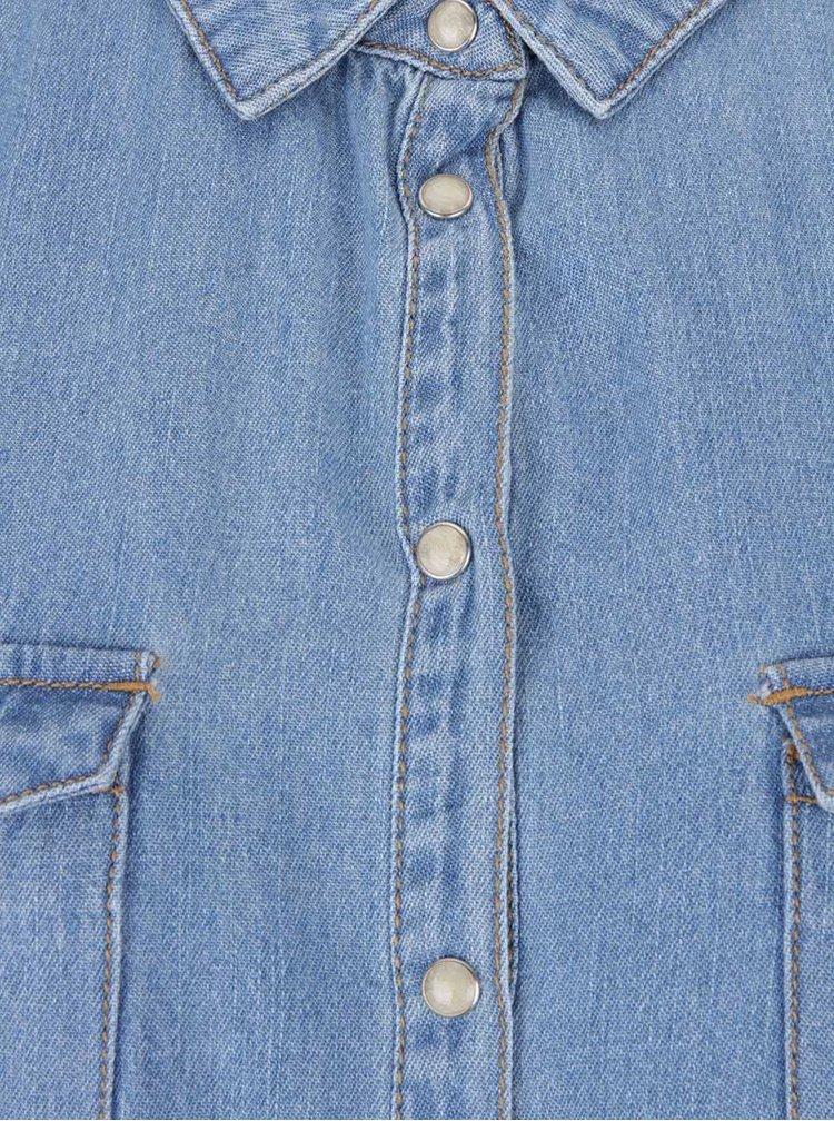 Modré džínové košilové šaty VERO MODA Silla