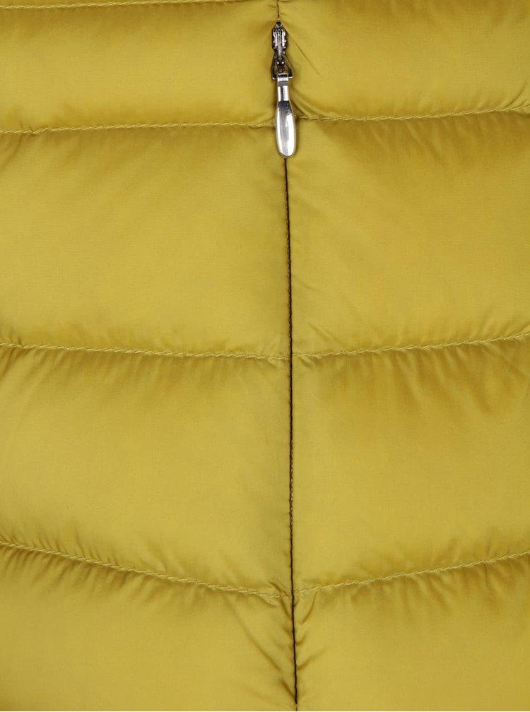 Hořčicová dámská prošívaná bunda Geox