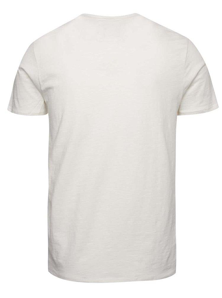 Krémové pánské triko s kapsou O'Neill Jack's base