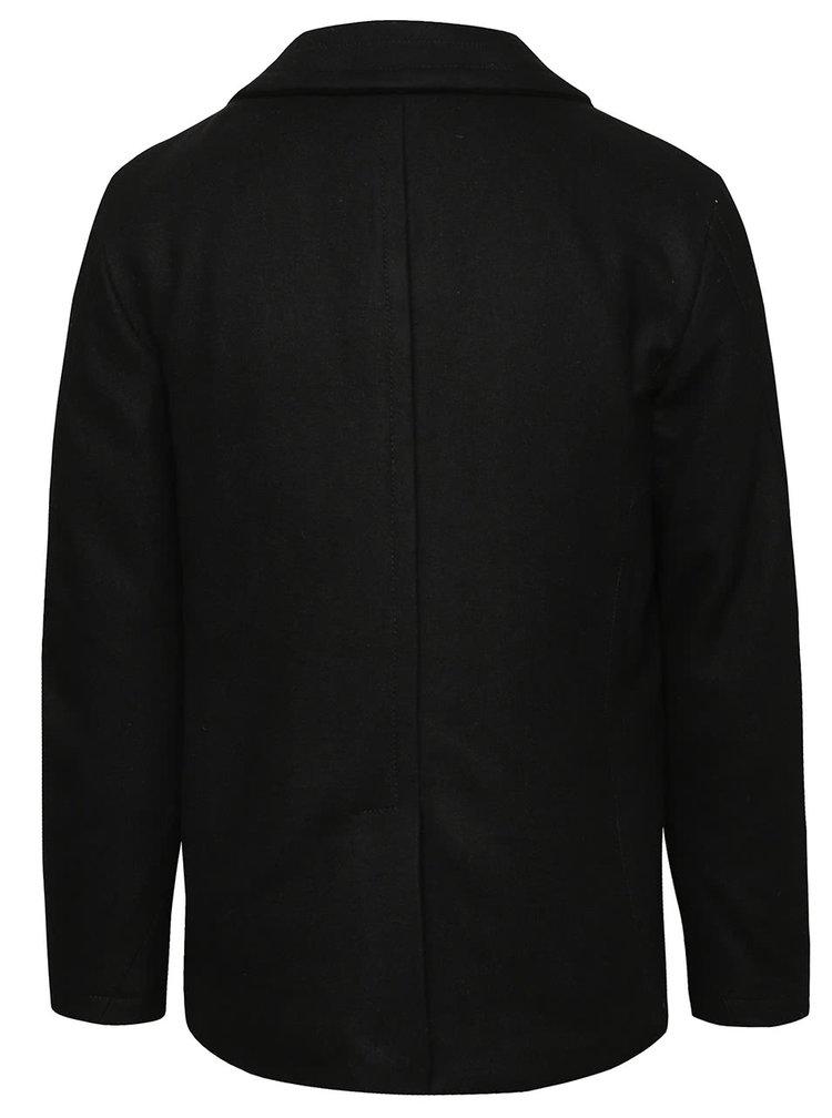 Palton negru Superdry pentru bărbați