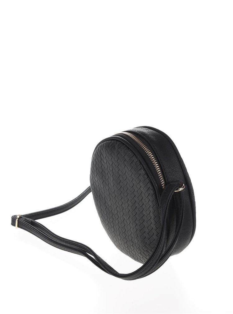 Černá kulatá malá crossbody kabelka VERO MODA Tulle