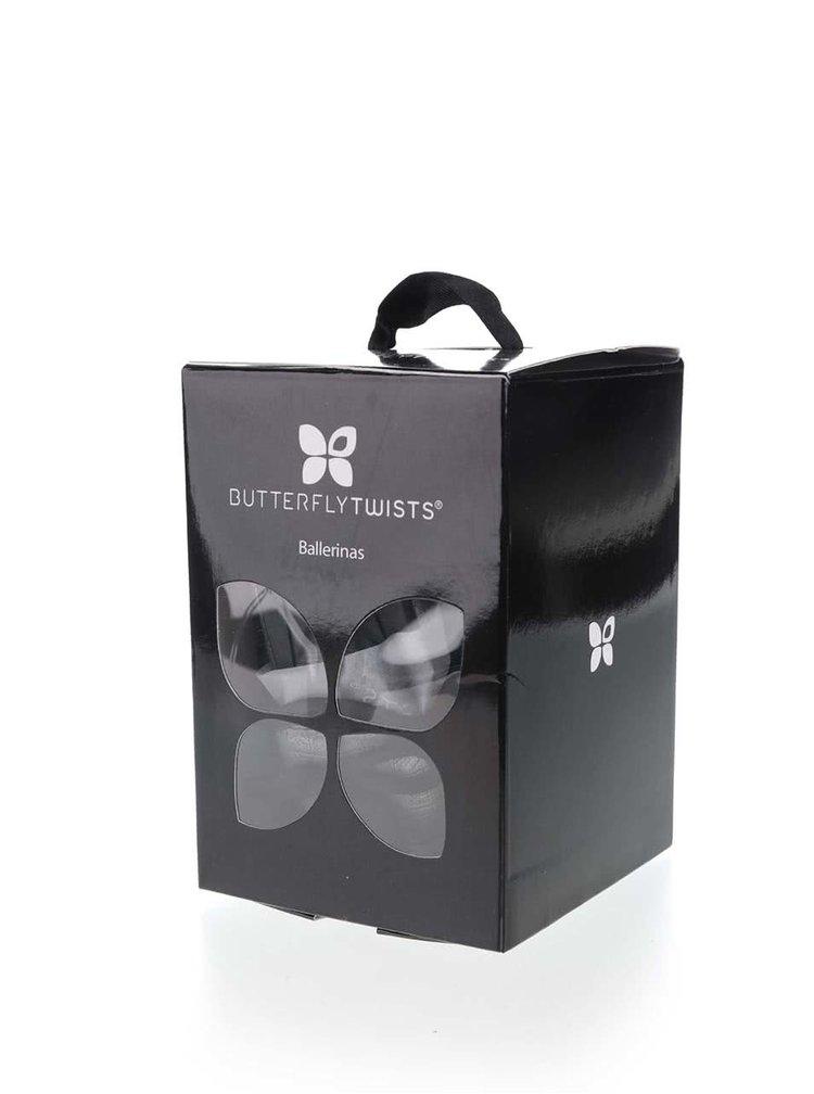 Černé baleríny se zebřím vzorem do kabelky Butterfly Twists Amber