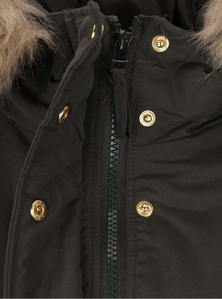 Tmavozelená dámska bunda s kapucňou VERO MODA Sabella