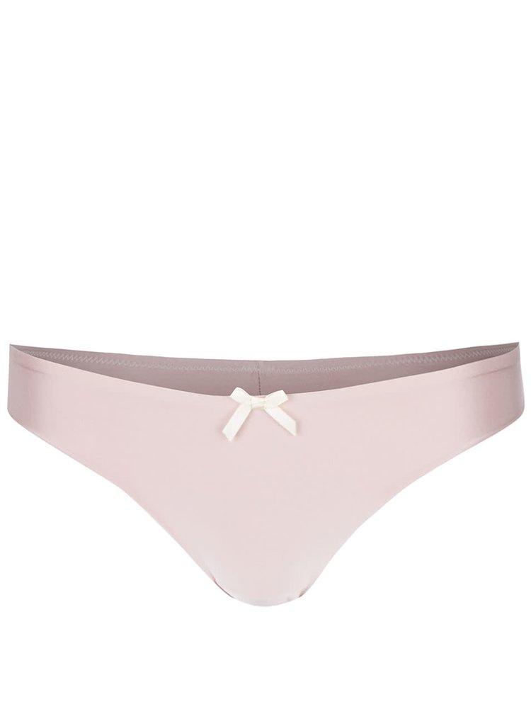 Světle růžové kalhotky s krajkovými detaily ICÔNE Carla
