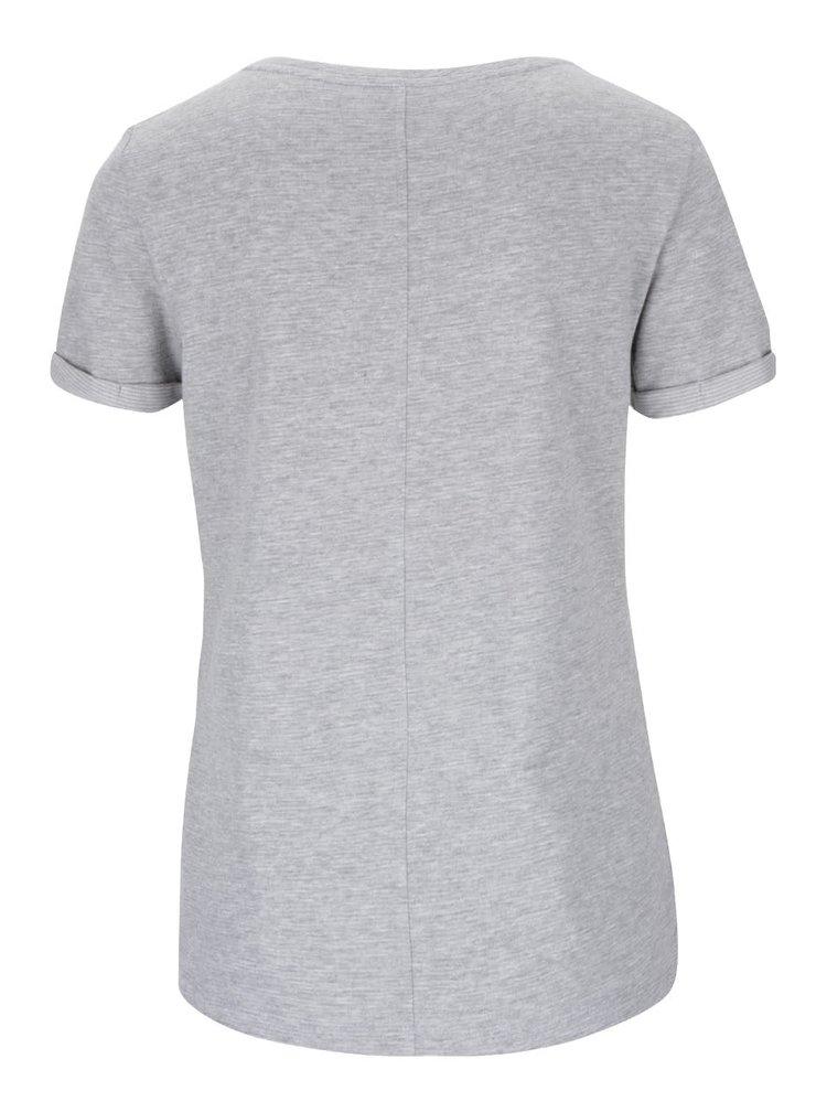 Sivé dámske tričko s potlačou s.Oliver