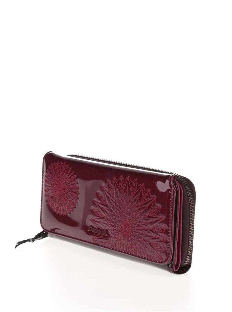 Vínová lesklá peněženka Desigual Maria Katia