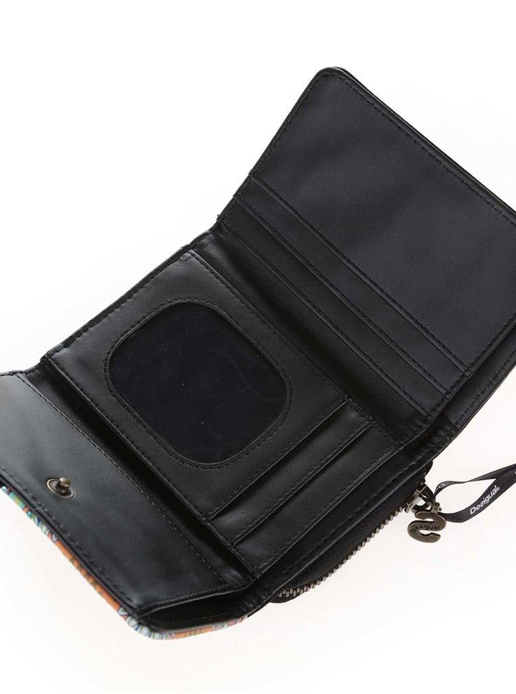 Černá peněženka v semišové úpravě Desigual Maria Candy