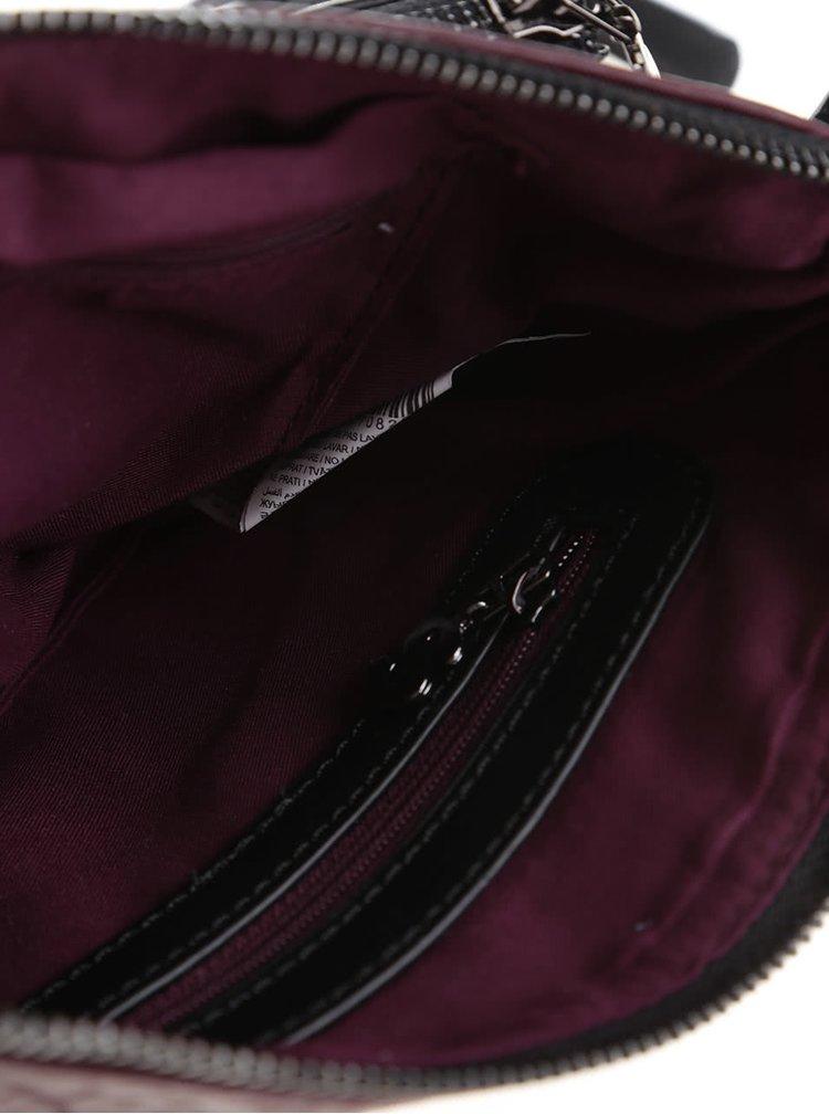 Čierno-vínová crossbody kabelka Desigual Toulouse Luxury Dreams