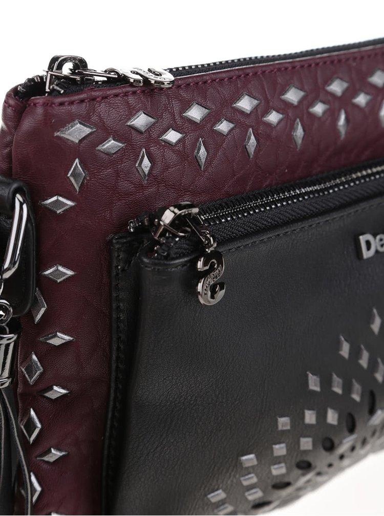 Geantă crossbody negru-vișiniu Desigual Toulouse Luxury Dreams