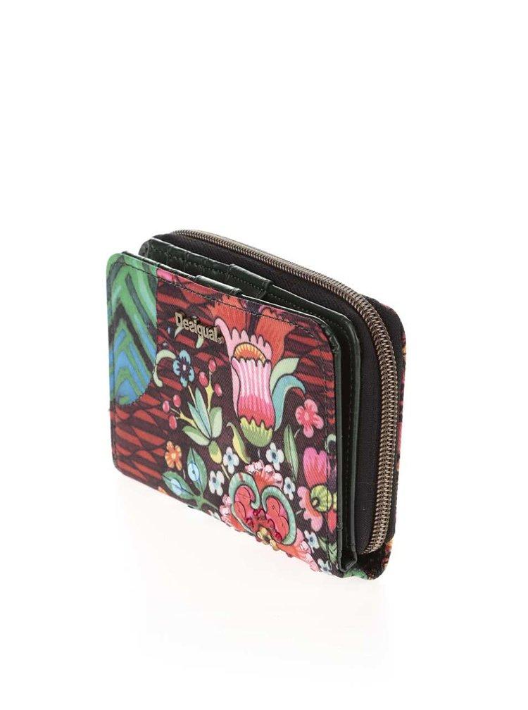 Zeleno-červená menší peněženka Desigual Magnetic Ikara