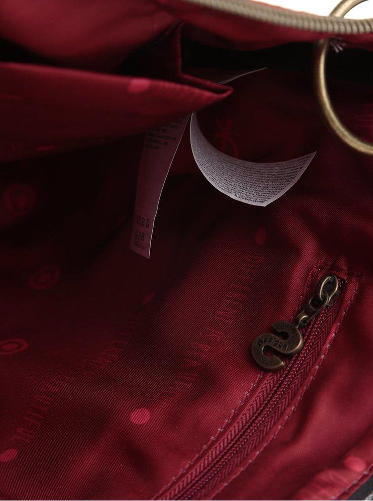 Geantă crossbody roșie Desigual Brooklyn Tokyo cu model