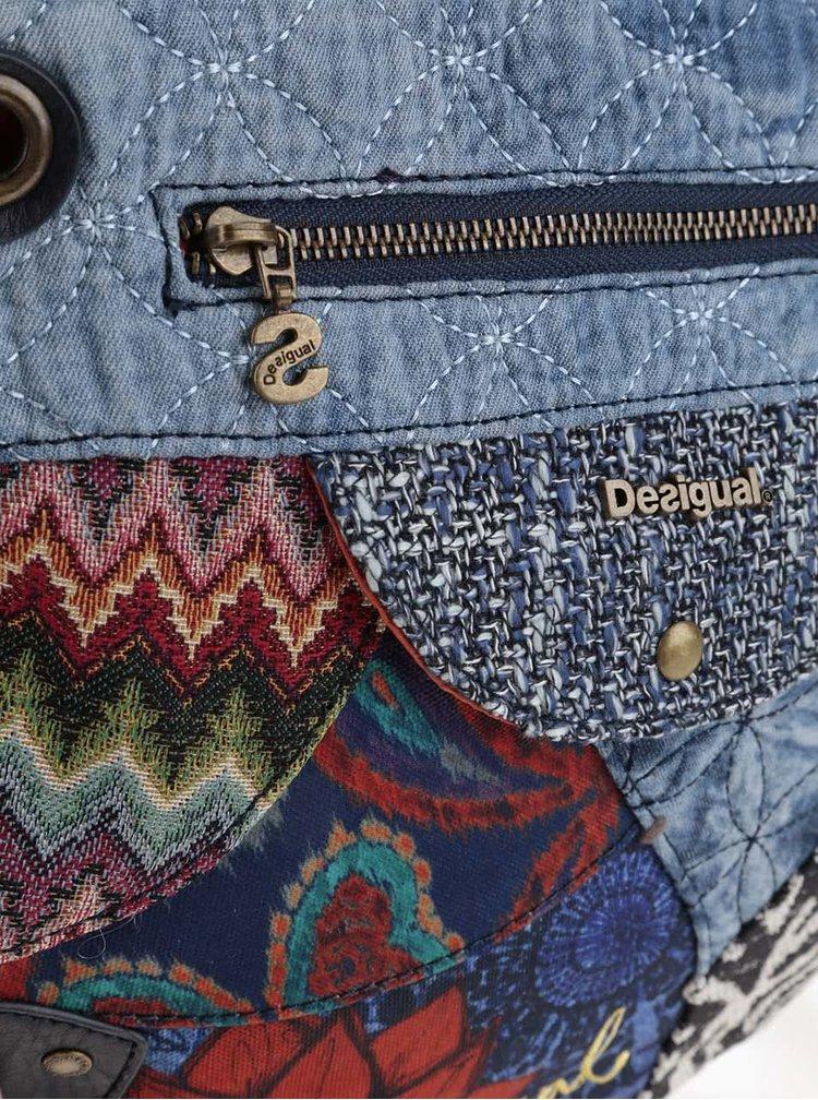 Modrá crossbody kabelka Desigual Brooklyn Electra