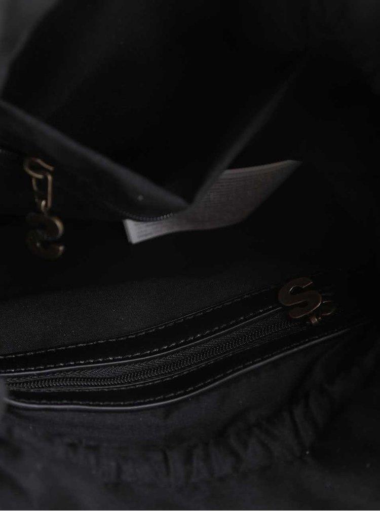 Geantă crossbody neagră Desigual Vigo Hong Kong Patch cu model