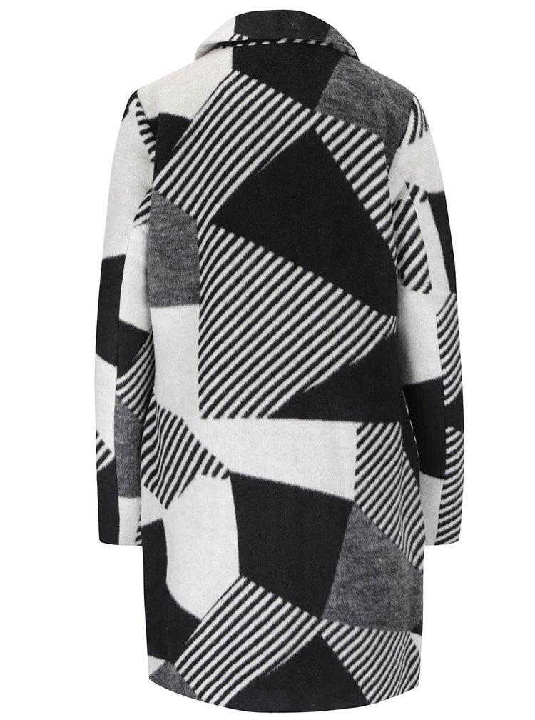 Krémovo-čierny dámsky kabát PEP Sahara