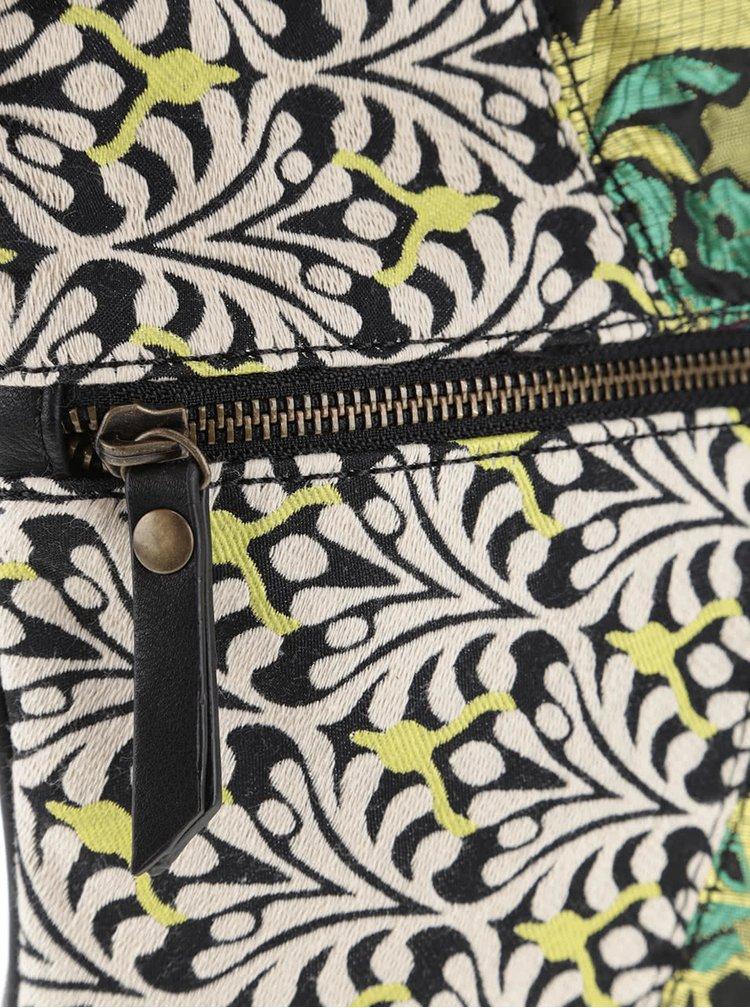 Geantă crossbody neagră Desigual Oslo Hong Kong Patch cu model