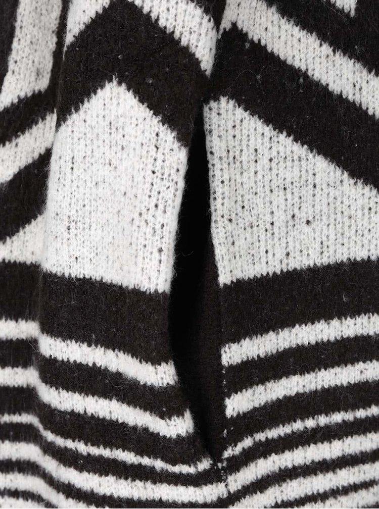 Černo-krémový dámský vzorovaný kardigan PEP Firth