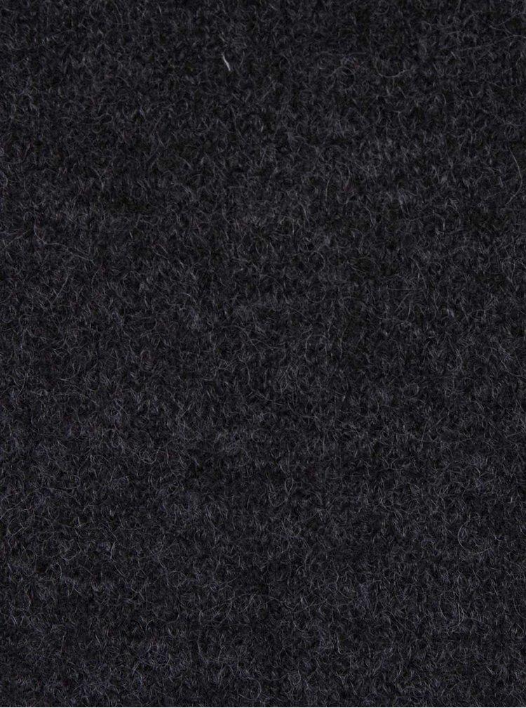 Tmavě šedý dlouhý svetr PEP Fig