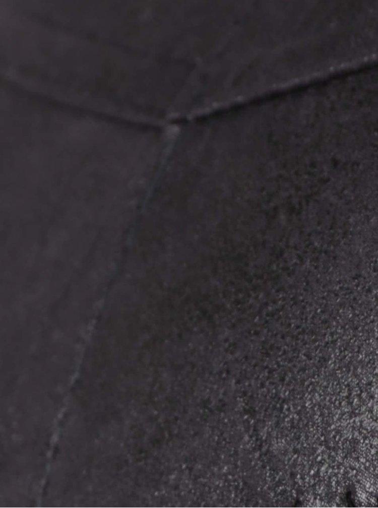 Černé koženkové legíny Alchymi Noreen