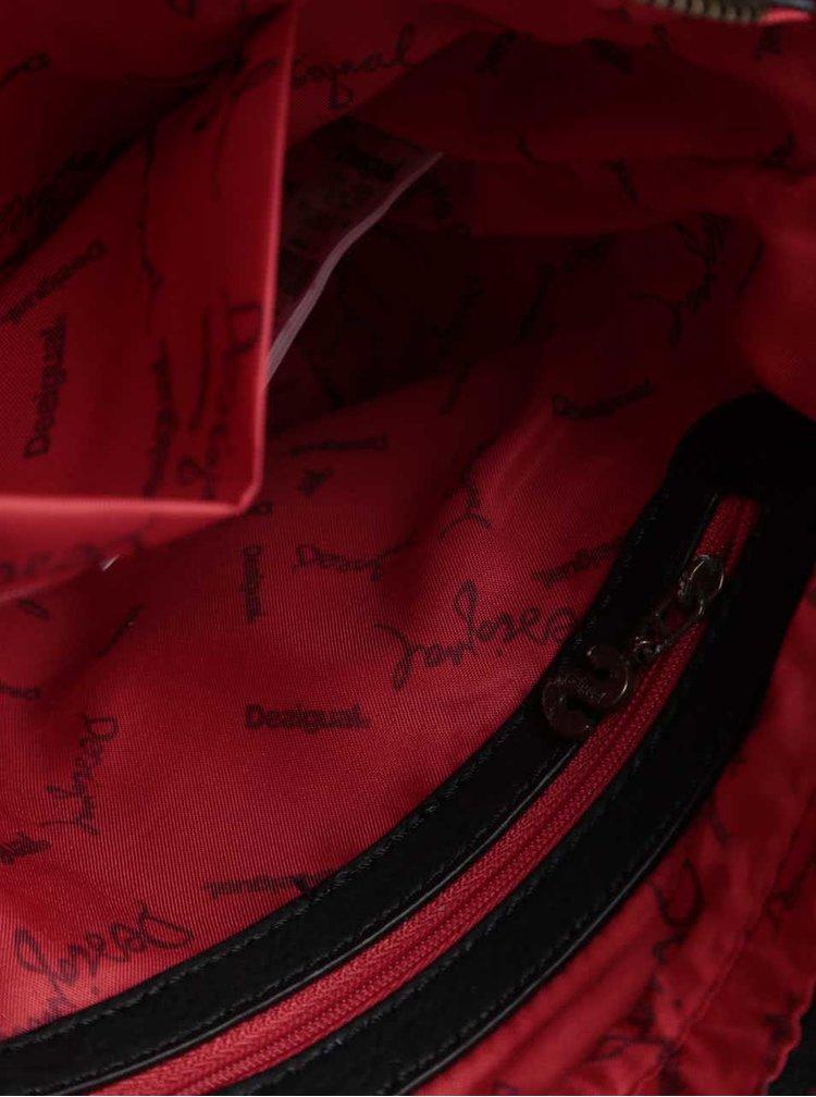 Čierna menšia kabelka s červenými detailmi Desigual McBee Mini Norway