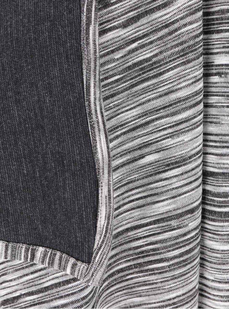 Šedo-černý dámský pruhovoný cardigan PEP Fiona