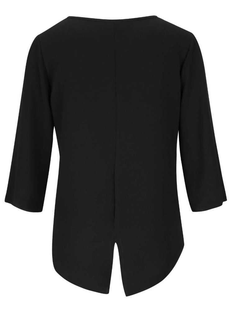 Bluză neagră Haily´s Michelle cu mâneci trei sferturi