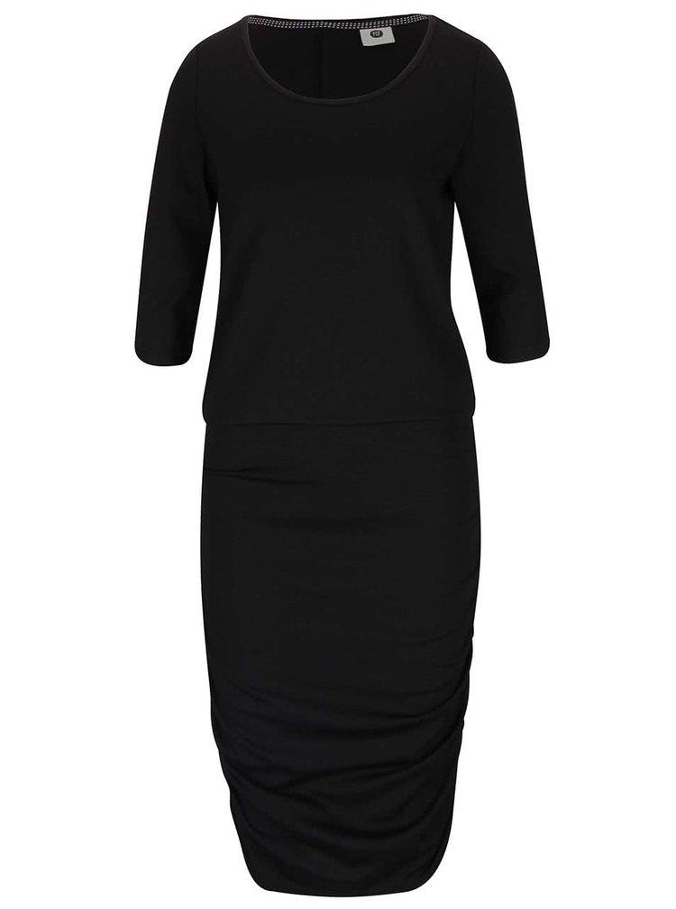 Čierne šaty s 3/4 rukávmi PEP Fleur