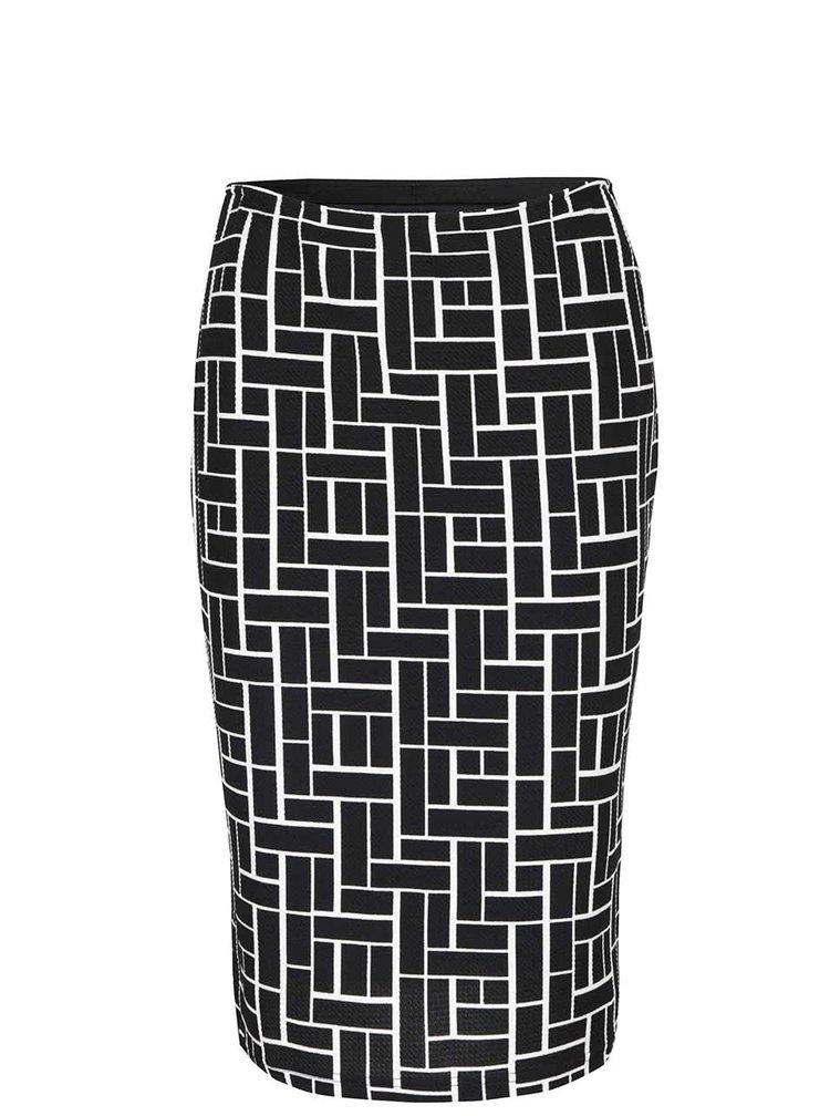 Krémovo-čierna vzorovaná sukňa Smashed Lemon