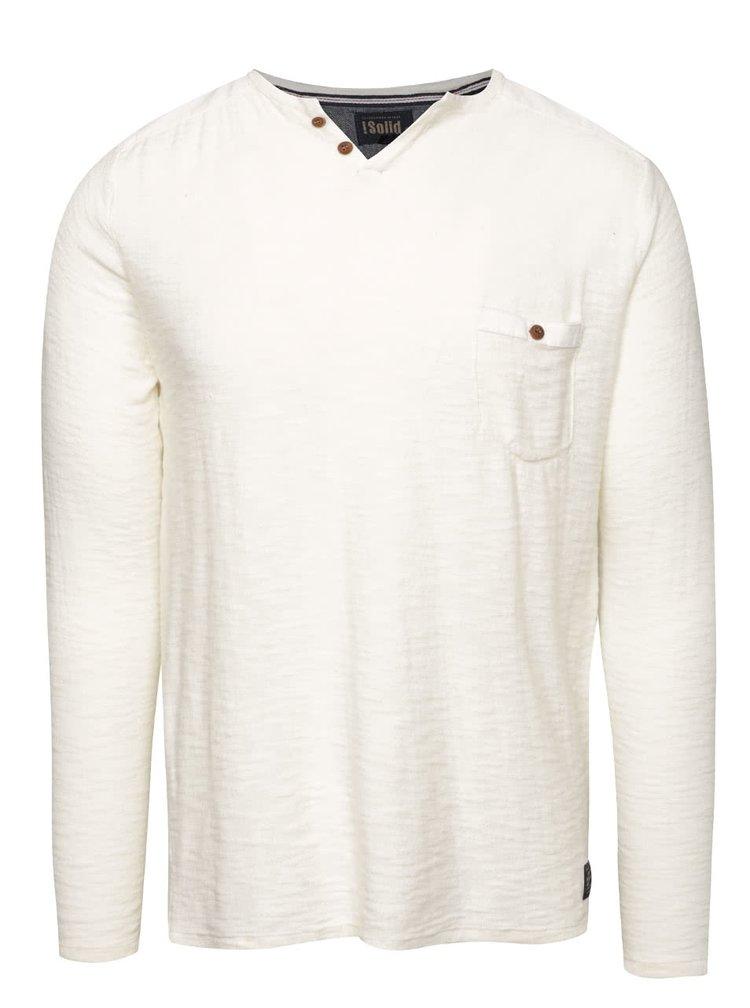 Krémový ľahký sveter s gombíkmi !Solid Eber