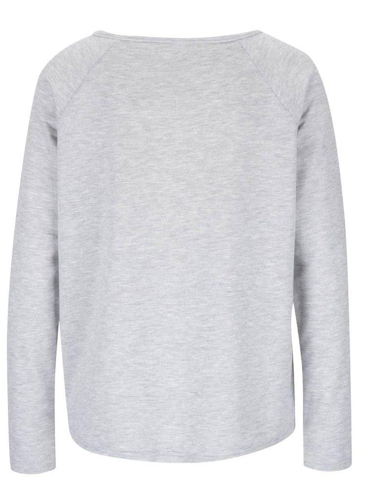 Sivé dámske tričko s potlačou Mickey Mouse Haily's Micka